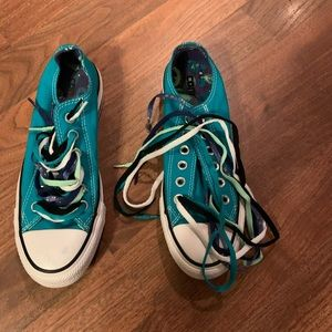 NEW Converse Turquoise Low Top Sneakers NEW